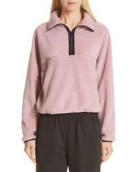 Sandy Liang - Bean Quarter Zip Fleece Pullover - Lyst