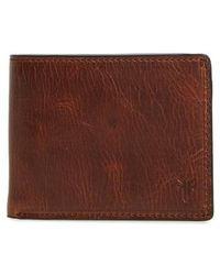 Frye - Logan Leather Wallet - - Lyst