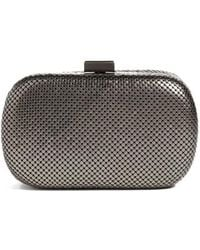 Whiting & Davis - Mesh Oval Minaudiere - Metallic - Lyst