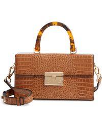 TOPSHOP Cannes Boxy Grab Bag - Brown