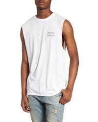 Spiritual Gangster - Good Vibes Graphic Muscle Tank - Lyst