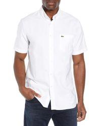 Lacoste - Regular Fit Short Sleeve Cotton Sport Shirt - Lyst