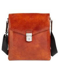 Bosca - 'man Bag' Leather Crossbody Bag - Lyst