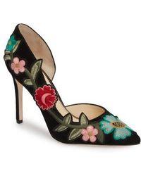 Jessica Simpson   Pristina Floral Applique Pump   Lyst