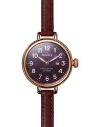 Shinola | The Birdy Leather Strap Watch | Lyst