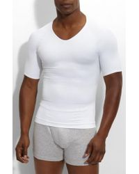 Spanx - Spanx 'zoned Performance' V-neck T-shirt - Lyst
