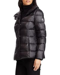 Lauren by Ralph Lauren - Quilted Packable Coat, Black - Lyst