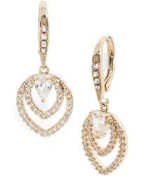 Jenny Packham - Crystal Drop Earrings - Lyst
