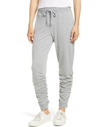 1.STATE - Ruched Hem Brushed Jersey Jogger Pants - Lyst
