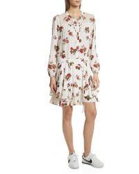 A.L.C. - Rori Silk Drop Waist Dress - Lyst
