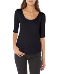 Michael Stars - Shine Reversible Scoop Cotton Blend Top - Lyst
