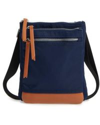 Lodis | Zora Rfid Nylon & Leather Crossbody Bag | Lyst