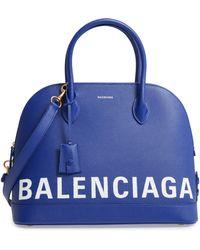 Balenciaga - Ville Logo Leather Satchel - Lyst