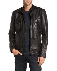 John Varvatos - John Varvatos Leather Zip Front Jacket - Lyst