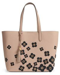 Cole Haan - Payson Floral Applique Rfid Leather Tote - - Lyst