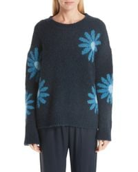Mansur Gavriel - Oversized Floral-intarsia Sweater - Lyst