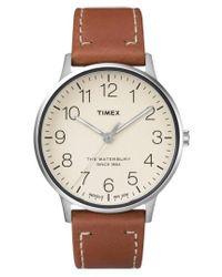 Timex - Timex Waterbury Classic Leather Strap Watch - Lyst