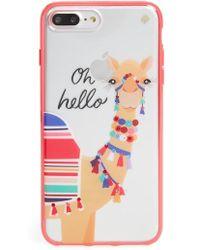 Kate Spade - Jeweled Camel Transparent Iphone 7/8 & 7/8 Plus Case - Lyst