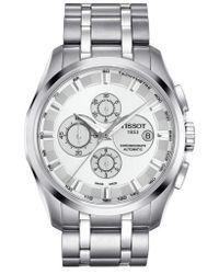 Tissot - Couturier Automatic Chronograph Bracelet Watch - Lyst