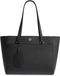 Tory Burch - Small Robinson Leather Tote - Lyst