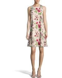Eci - Floral Embroidered A-line Dress - Lyst