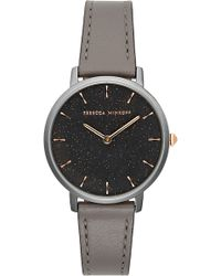Rebecca Minkoff - Major Leather Strap Watch - Lyst