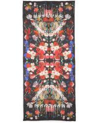 Alexander McQueen - Drip Flower Satin Stole - Lyst