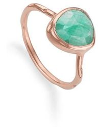 Monica Vinader - 'siren' Semiprecious Stone Stacking Ring - Lyst