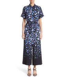 Lela Rose - Floral Print Wide Leg Jumpsuit - Lyst