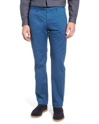 Ted Baker | Proctt Slim Fit Stretch Cotton Chino Trousers | Lyst
