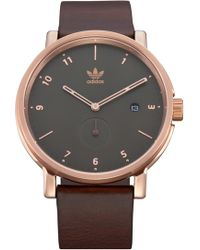 adidas District Leather Strap Watch