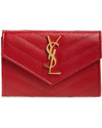 Saint Laurent - 'monogram' Quilted Leather French Wallet - - Lyst