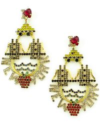 Elizabeth Cole - New York Crystal Drop Earrings - Lyst