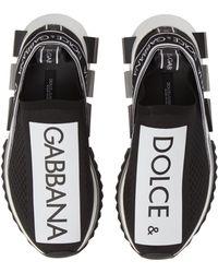 Dolce & Gabbana Sorrento Printed Stretch-jersey Sneakers - Black
