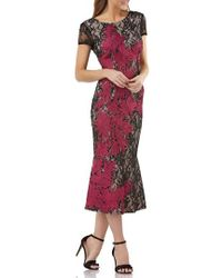 JS Collections - Soutache Embroidered Lace Dress - Lyst