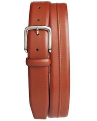 Cole Haan - Pinched Seam Leather Belt - Lyst