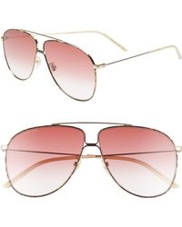 784e8b49066 Lyst - Gucci Endura Oversized Aviator-style Gold-tone And ...