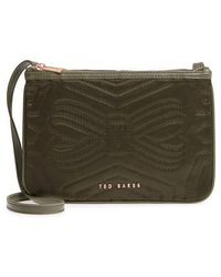 Ted Baker - Quilted Bow Crossbody Bag - Lyst