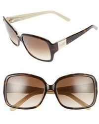 Kate Spade - 'lulu' 55mm Rectangular Sunglasses - Lyst