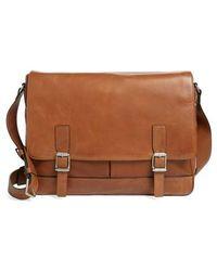 Frye - Oliver Leather Messenger Bag - - Lyst