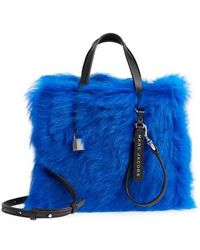 Marc Jacobs - Mini The Grind Genuine Shearling Tote - - Lyst