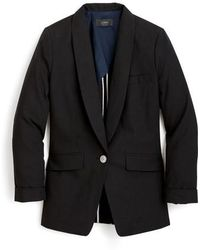 J.Crew | J.crew Unstructured Shawl Collar Cotton Linen Blazer | Lyst