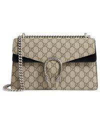 Gucci - Small Dionysus Gg Supreme Canvas & Suede Shoulder Bag - None - Lyst