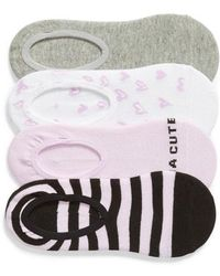 Sockart - Kinda Cute 4-pack No-show Socks - Lyst