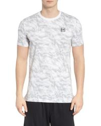 Under Armour - Sportstyle Print Charged Cotton Fitted T-shirt - Lyst