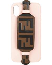 72b19d3dcd71 Lyst - Fendi Chain Iphone X Case in Green