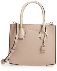 MICHAEL Michael Kors - Medium Mercer Pebbled Leather Tote - - Lyst
