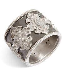 Armenta - New World Scroll Diamond Band Ring - Lyst