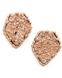 Kendra Scott - Tessa Stone Stud Earrings - Lyst