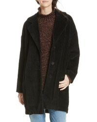 Eileen Fisher - Organic Cotton Corduroy Coat - Lyst
